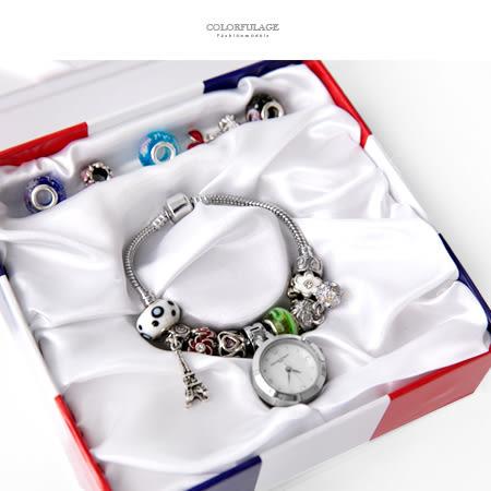 Valentino范倫鐵諾 珍珠貝面精緻串珠手鍊手錶腕錶 隨心情任意配搭 柒彩年代【NE1830】原廠