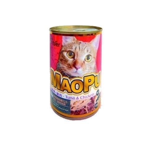 MAOPU  貓撲鮪魚+雞肉餐罐400g【愛買】