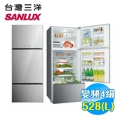 台灣三洋 SANLUX 528L 無邊框采晶玻璃三門直流變頻冰箱 SR-B528CVG