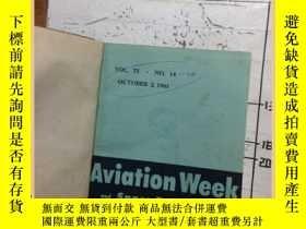 二手書博民逛書店Aviation罕見week space techology 1
