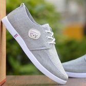 春季帆布鞋透氣夏季休閒防臭牛筋底板鞋防滑布鞋男士布鞋子 限時八五折