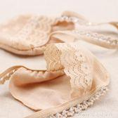 5雙裝 女士襪子大碼寬吊帶襪高跟鞋船襪淺口隱形襪防滑前掌蕾絲襪艾美時尚衣櫥