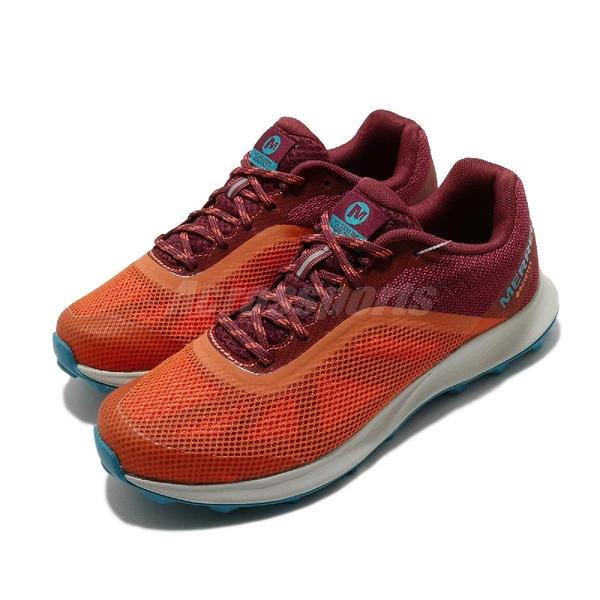 Merrell 慢跑鞋 MTL Skyfire GTX 紅 橘 女鞋 Gore-Tex 輕量越野 透氣 運動鞋【ACS】 ML066456