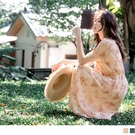 滿版碎花與荷葉設計顯現氣質溫柔的小女人氛圍~ 鬆緊收腰穿著舒適不咬肌