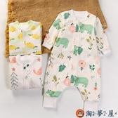嬰兒睡袋保暖四季通用款寶寶純棉防踢被分腿薄款【淘夢屋】