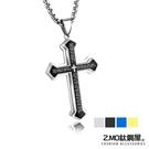 Z.MO鈦鋼屋 中性項鍊 十字架項鍊 可加購刻字 聖經項鍊 十字架項鍊 白鋼項鍊【AKS1360】單條價