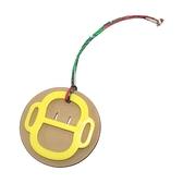HERMES 愛馬仕 黃色壓克力X雙色牛皮猴子吊飾 Petit H 【BRAND OFF】