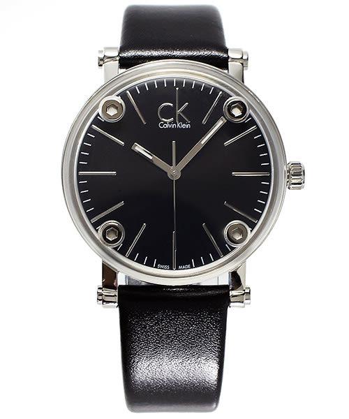 CK Calvin Klein Cogent 造型美學風手錶(K3B231C1) - 黑面x黑/36mm