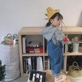 童裝男女童裝牛仔褲嬰兒寶寶兒童牛仔背帶褲春秋可開檔1-2-4歲【潮咖地帶】