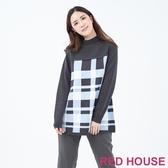 【RED HOUSE 蕾赫斯】寬版格紋針織衫(共2色)
