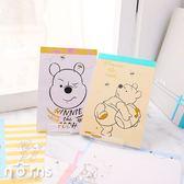 Norns【小熊維尼彩色便條本50K】迪士尼正版 便條紙 手繪素描風Pooh 信紙MEMO便箋 小豬跳跳虎屹耳