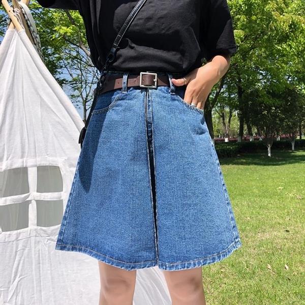 高腰牛仔短褲裙褲女寬鬆2019新款夏季顯瘦闊腿a字潮chi