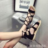 流蘇鞋子2018夏季新款韓版綁帶涼鞋女學生百搭平跟流蘇羅馬鞋平底鞋子 貝芙莉女鞋