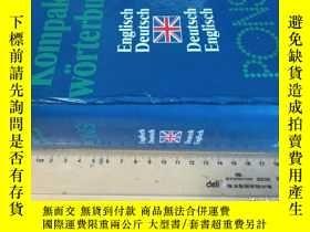 二手書博民逛書店精裝全本罕見Pons Kompakt Worterbuch: Englisch Deutsch, Deutsch