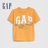 Gap男幼棉質舒適圓領套頭T恤545142-明黃色