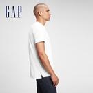 Gap男裝 棉質舒適圓領短袖T恤 530924-白色