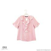 【INI】優雅有型、風采氣質輕柔上衣.粉色