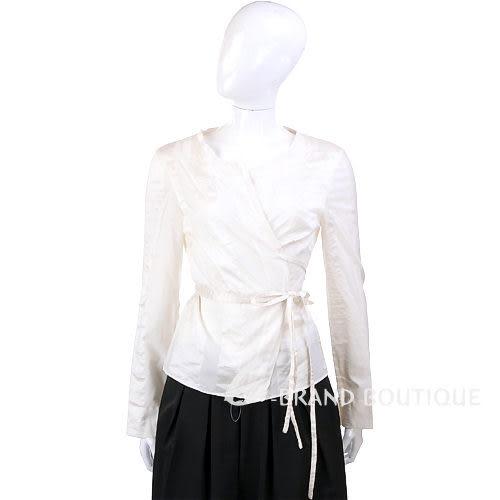 GBR 米白色綁帶長袖上衣 0520949-03