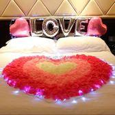 仿真玫瑰花瓣 創意求婚錶白生日浪漫裝飾仿真玫瑰花瓣婚房布置結婚用品場景布置 珍妮寶貝