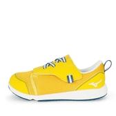 Mizuno Plamore [C1GD213347] 大童鞋 運動 休閒 魔術帶 好穿脫 保護 舒適 透氣 黃