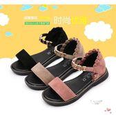 夏季新品女童鞋兒童小女孩沙灘鞋正韓女童中大童寶寶羅馬涼鞋 聖誕交換禮物