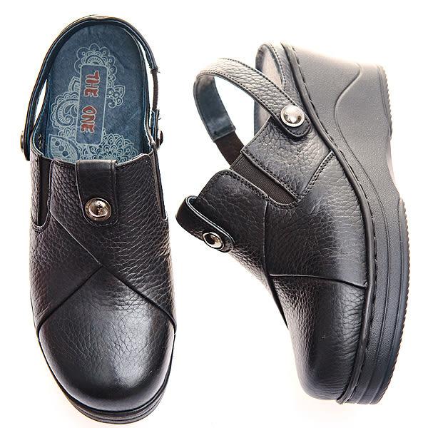 (零34.36.40)MODO*流行經典/包涼兩用--THE ONE 休閒氣墊鞋 (全牛皮)-B50307  黑