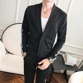 成套西裝 套裝 男裝青年帥氣正韓潮流兩件套個性時尚學生帥氣長袖休閒褲套裝