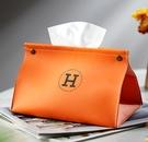 網紅紙巾盒高檔抽紙盒家用客廳創意餐巾紙盒車載簡約皮革紙抽輕奢