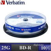 ◆免運費◆威寶 Verbatim 空白光碟片 Life 藍光 BD-R 6X  25GB 光碟燒錄片X10PCS