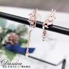現貨不用等 韓國女神浪漫微鑲羽翼翅膀不對稱鋯石925銀針耳環 S93167批發價 Danica 韓系飾品