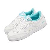 【海外限定】Reebok 休閒鞋 Club C 85 白 藍 小白鞋 男鞋 女鞋 經典款 復古 運動鞋【ACS】 FV1096