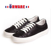 ORWARE-MIT舒適亮珠光休閒板鞋 652032-02(黑)