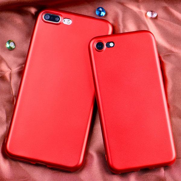 【世明國際】i8 中國紅 磨砂軟殼 矽膠 全包 止滑 防摔 iphone6plus 手機套 手機殼 i7+ 寶藍