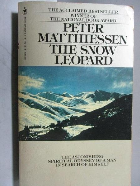 【書寶二手書T6/原文小說_OTE】The Snow Leopard_Peter Matthiessen