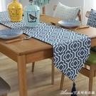 北歐幾何圖案桌旗餐桌墊布藝裝飾茶幾旗電視櫃鞋櫃蓋布巾床旗床尾交換禮物