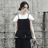 無袖背心-短款夏季新款不規則時尚女上衣73sl25【巴黎精品】