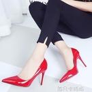 白色高跟鞋女秋2020新款細跟10cm 女款夏淺口尖頭8cm歐美性感單鞋 依凡卡時尚