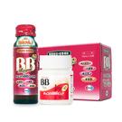 【日本人氣B群/蜂王飲】俏正美BB Pure糖衣錠(80錠/瓶)*1+BB蜂王飲(10瓶/盒)*1[美十樂藥妝保健]