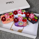 兒童包包女童公主菱格鍊條包韓國東大門經典小香風斜挎包零錢包   創想數位