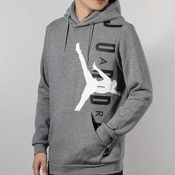Nike Jordan Hoodie 灰 白黑 大logo  刷毛 帽T 秋冬服飾 男 (布魯克林) CD5871-091