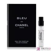 CHANEL 香奈兒 BLEU DE 藍色男性香水(2ml)【美麗購】