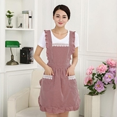 韓版時尚圍裙防水廚房防油圍腰公主可愛女定制做飯成人罩衣長袖 黛尼時尚精品