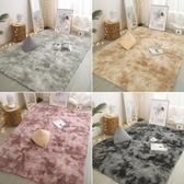 長毛絨地毯臥室滿鋪房間床邊毯漸變厚地墊 cf
