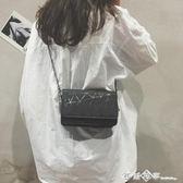 chic夏天迷你小包包女2018新款潮鏈條單肩包韓版百搭斜挎小方包女  西城故事