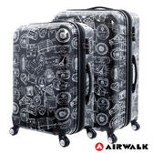 AIRWALK LUGGAGE - 精彩歷程 環郵世界行李箱24+28吋二箱組- 遊玩靚黑
