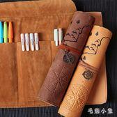 文具盒男女簡約多功能大容量卷筆簾初中學生小學生創意鉛筆袋OB2929『毛菇小象』
