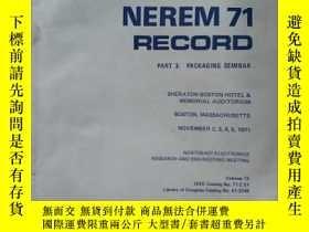 二手書博民逛書店ENREM罕見71 RECORDY16555 ENREM 71 RECORD ENREM 71 RECORD