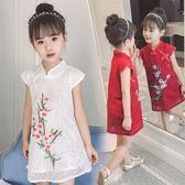 女童旗袍 新款童裝女童夏裝旗袍兒童洋氣中國風改良旗袍LJ8868『小美日記』