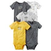 美國Carter's卡特童裝 男寶寶 短袖純棉活肩包屁衣 黃挖土機【CA126G831】