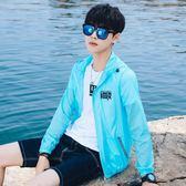 聖誕狂歡 防曬衣男超薄款透氣外套韓版潮流青少年學生帥氣夏季戶外個性風衣